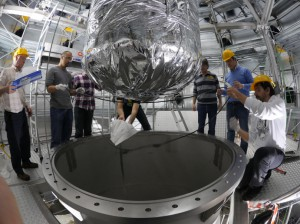 Outer cryostat closed for the first time